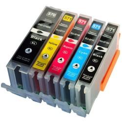CANON kompatibilis PGI570XL / CLI571XL 5db-os utángyártott nagy kapacitású tintapatron csomag/multipack