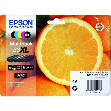 """EPSON 33XL (T3351) """"Narancs"""" Cyan eredeti nagy kapacitású tintapatron"""