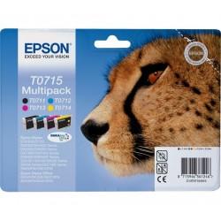 "EPSON T0715 ""Gepárd"" 4 db-os eredeti tintapatron csomag"