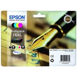 """EEPSON T1636 ( 16XL ) """"Töltőtoll"""" 4 db-os eredeti tintaparton csomag"""