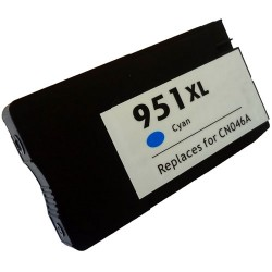 HP kompatibilis 951XL (CN046AE) Cyan utángyártott nagy kapacitású tintapatron