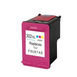 HP kompatibilis 302XL (F6U67AE) Color utángyártott nagy kapacitású tintapatron