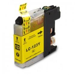 BROTHER Kompatibilis LC123 Yellow utángyártott tintapatron