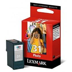 LEXMARK 31 Photo (18C0031E) Photo Cyan/Fotó kék, Fotó magenta, Fotó fekete eredeti lejárt szavatosságú tintapatron